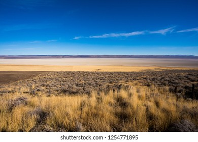 Dry Lake bed at Summer Lake in Central Oregon. This region is popular for birds and wildlife.