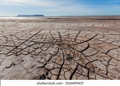 dry land as in the desert