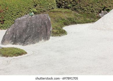 dry landscape of Japanese garden