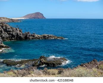 Dry Lava Coast Beach in the Atlantic Ocean