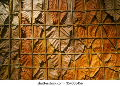 dry leaves wall
