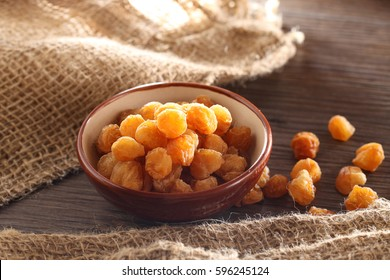 Dry Longan in a mood background