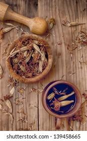 Dry medicinal herbares