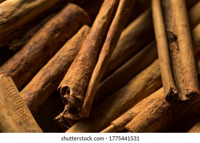 Dry Organic Ceylon Cinnamon Sticks in a Bunch