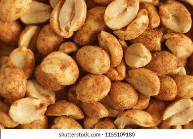 Dry or oven roasted peanuts lightly seasoned eaten as high protein snack