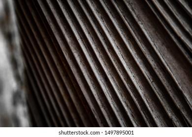 Dry palm leaf. Dried sugar palm leaf background. A detail of palm leaf texture background Dried sugar palm leaf background.