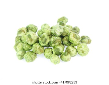 dry peas isolated on a white background