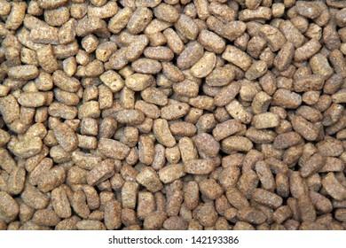 Dry pets food close-up