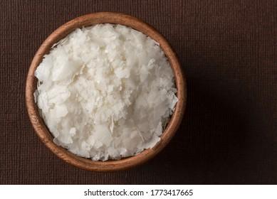 Dry Potato Flakes in a Bowl