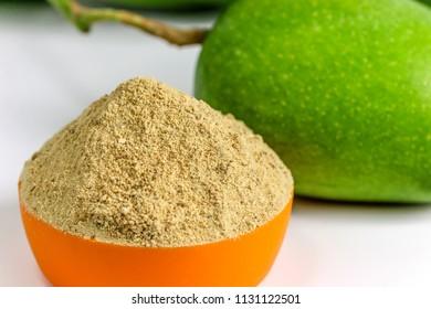 Dry raw mango powder - Indian spice amchoor powder with raw mango