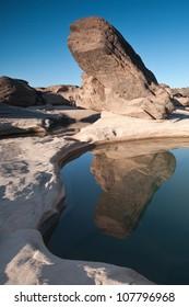 dry river Sam Pan Bok, beautiful grand canyon at Ubonratchathani province in Thailand