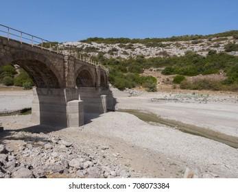 Dry river in Sardinia