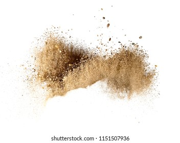 Dry sand explosion