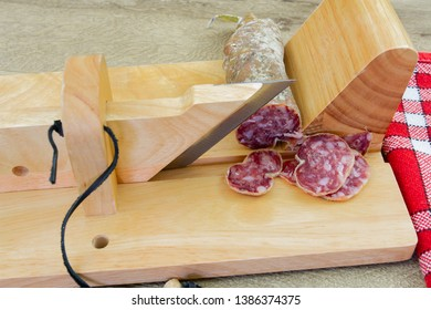 dry sausage and sausage slicer