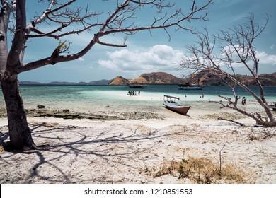 Dry season on tropical island