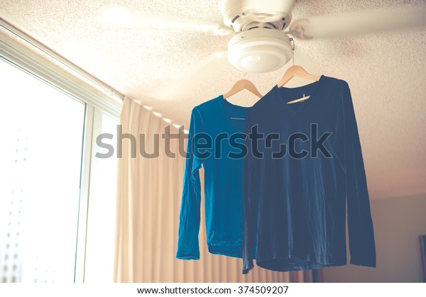 Dry the shirt in the room