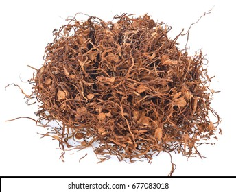 Dry smoking tobacco close-up