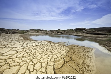 Dry soil in arid areas