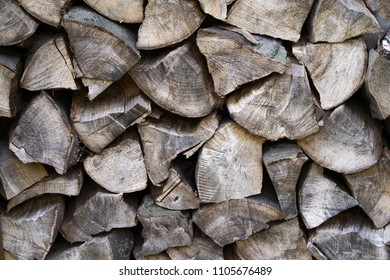 Dry stack of firewood