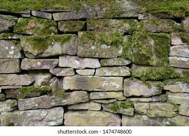 Dry stone wall, Cheshire, UK