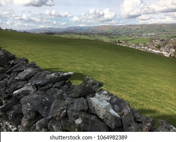 Dry stone wall, Kendal, Lake District, Cumbria, England