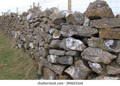 dry stone wall on farm