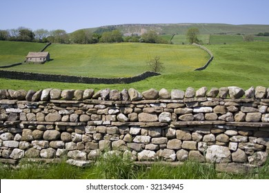 A dry stone wall in the Yorkshire Dales