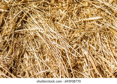 Dry straw as a background abstract