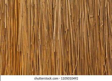 Dry straw bundle as texture or background