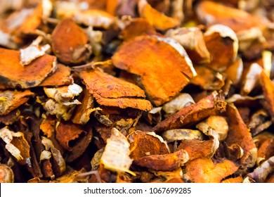 Dry turmeric Cut background