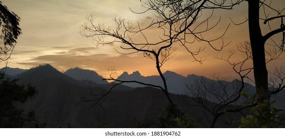 dry twigs on mount Anjasmoro