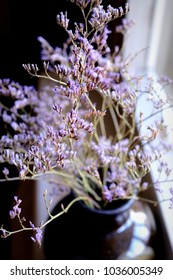 dry twigs with purple small flowers