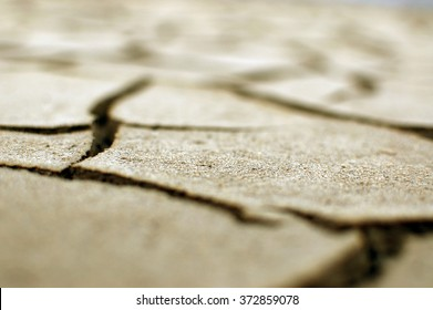 Dryed land with cracked ground Desert