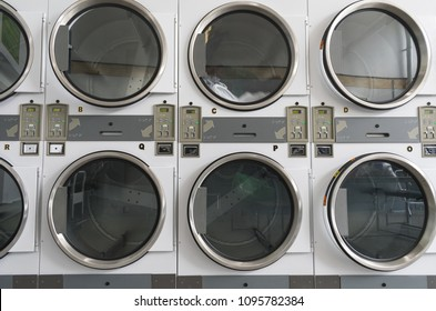 Dryer Machines in Laundromat