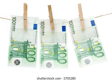 Drying One Hundred Euro Bills