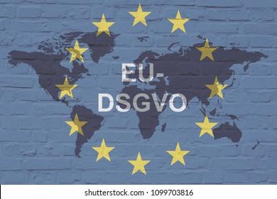 DSGVO Datenschutz-Grundverordnung, German text for GDPR basic data protection regulation