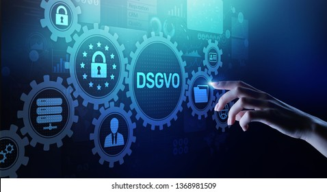 DSGVO, GDPR General data protection regulation european law cyber security personal information privacy concept on virtual screen.