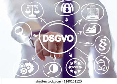 DSGVO. RGPD. GDPR - General Data Protection Regulation.