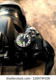Dslr Camera Control Dial Showing Aperture, Shutter Speed, Manual and Program Generic Modes