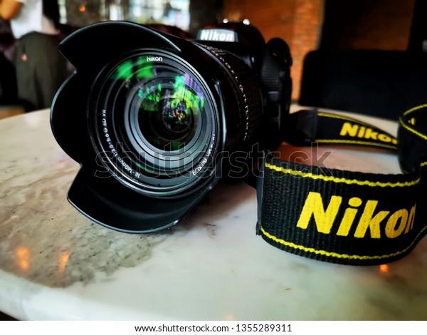 Dslr Camera Nikon Camera Put On Stock Photo (Edit Now) 1355289311
