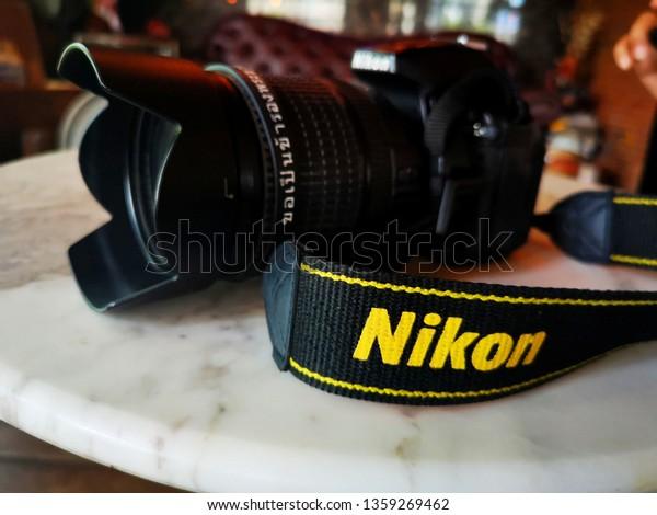 Dslr Camera Nikon Camera Put On Stock Photo (Edit Now) 1359269462