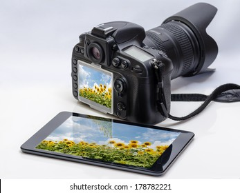 DSLR and tablet