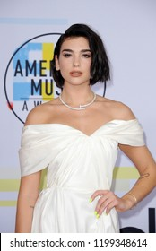 Dua Lipa at the 2018 American Music Awards held at the Microsoft Theater in Los Angeles, USA on October 9, 2018.