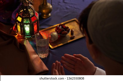 Dua (Prayer) of Fasting. Meals are served before sunrise, called suhoor, and after sunset, called iftar, and eaten with family or with the local community. The holy month of Ramadan