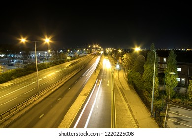 Dual carriageway in Nottingham late at night