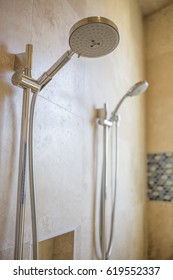 Dual Shower Heads in Large Modern Shower