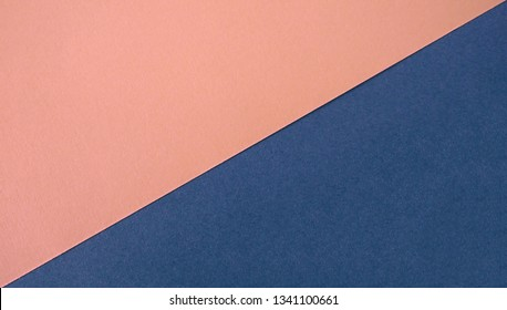 Dual tone colorful papers divided in center creating line partition as an abstract background space