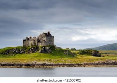 Duart Castle in daylight, Isle of Mull, Scotland