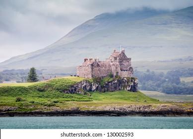Duart Castle, famous castle in Northern Scotland