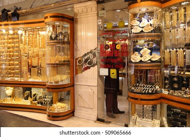 DUBAI - 23 MAY: Gold and Spice Souk in Dubai on 23 May 2015